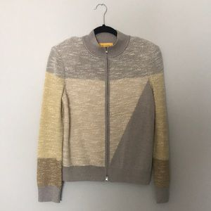 St. John Grey Knit ZIP Jacket